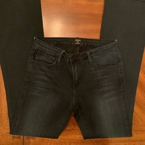 Dark wash boot cut jeans